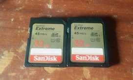 Memorias Dos sd sanDisk 32g 45 MB/S