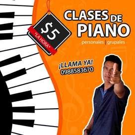 CLASES DE PIANO PERSONALIZADAS O EN GRUPO A BUEN PRECIO