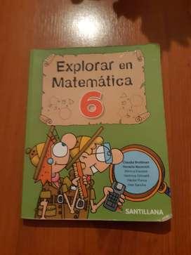 libro explorar en matematicas 6°  santillana