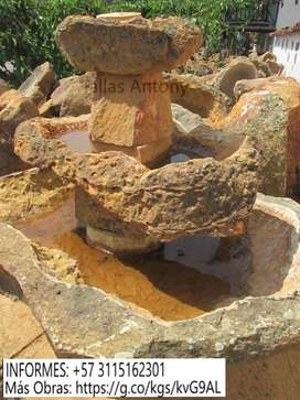 Fuentes Rústicas, Obras y Talladas en Piedra