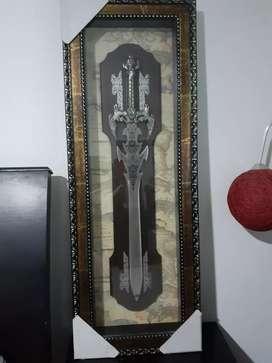 Hermoso cuadro de la espada del arcangel san miguel
