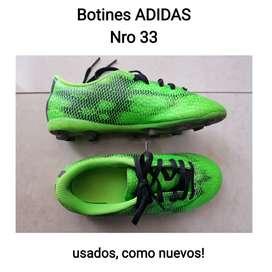 Botines ADIDAS 33 como nuevos