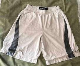 NIKE shorts de basketball 100% Original, color blanco con gris, traído de USA, talle medium