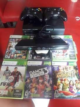Xbox 360 con 6 juegos y kinect impecable