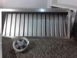 Campana Acero + Ducto Galvanizado + Extractor Marca Siemens