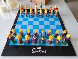 Ajedrez Simpson con figuras en 3D