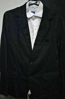 Saco Blazer de Gabardina con camisa