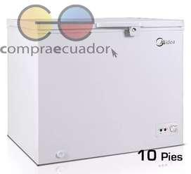 Midea Congelador 300 Litros Enfriador Horizontal 10 Pies Nuevo