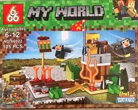 Legos minicraf 105 piezas