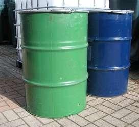 canecas metalicas de 55 galones abiertas con tapa