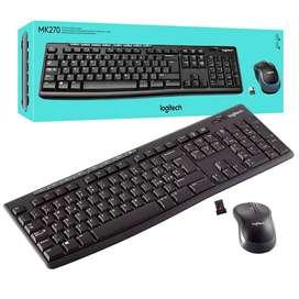 Combo Mouse y teclado Logitey MK270