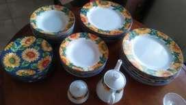 Juego de platos de porcelana esmaltada