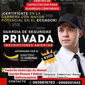 Cursos para Guardias de Seguridad Primer Nivel