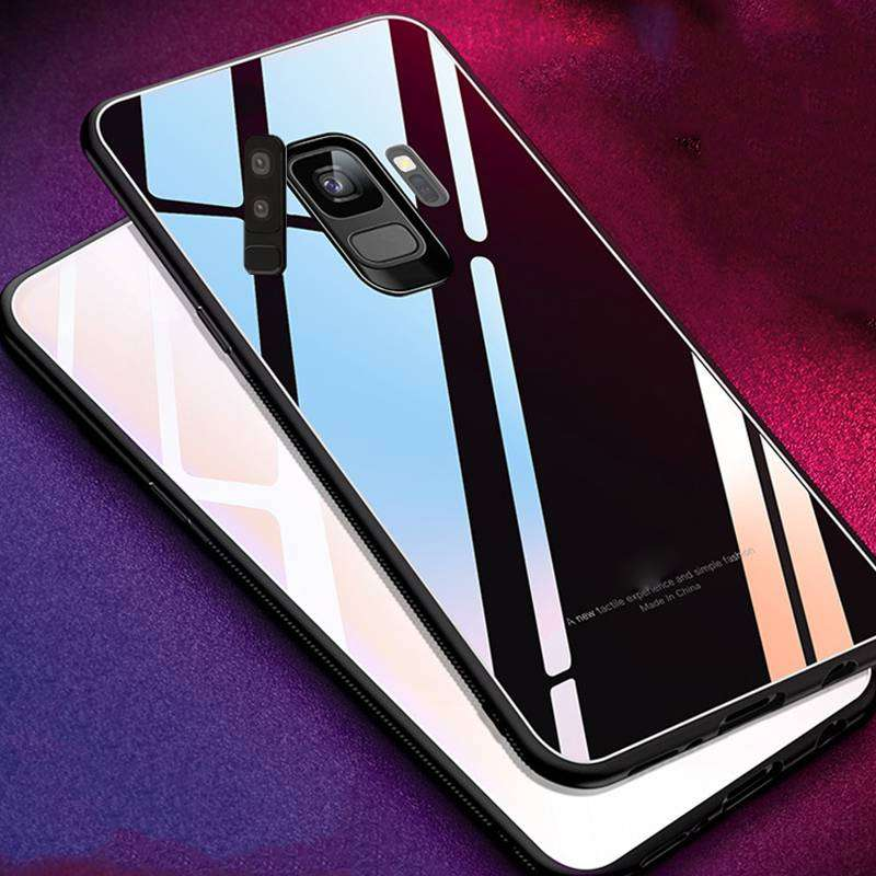 Estuche Carcasa Protector Vidrio Templado Samsung S8 S8 Plus S9 S9 Plus Note 8 Note 9 S7 Edge