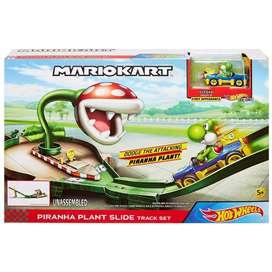 Mario Kart Pista Hot Wheels GFY47 Mario Kart Rampa Piraña  Yoshi Nintendo