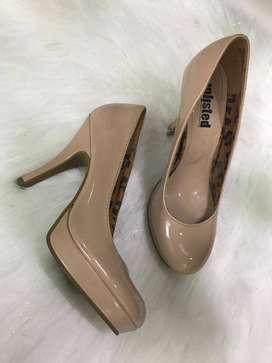 Zapatos talla 37 color nude