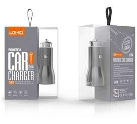 Cargador Carro Original Carga Rapida 2 Usb + Cable 1 Metro