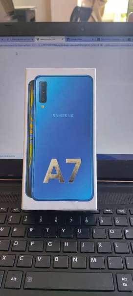 Celular samsung galaxy A7 2018 + Galaxy fit e+ Level U