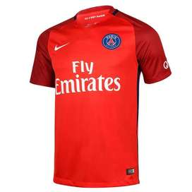 Camiseta del Paris Saint Germain (PSG) de Francia Suplente/Away 2016/17 Roja marca Nike Original