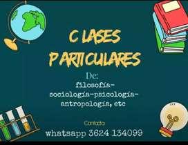 Clases de ciencias sociales y filosofía