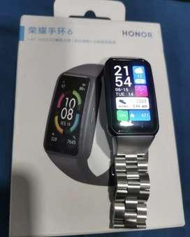 Reloj Honor Band 6 con caja y pulso adicional