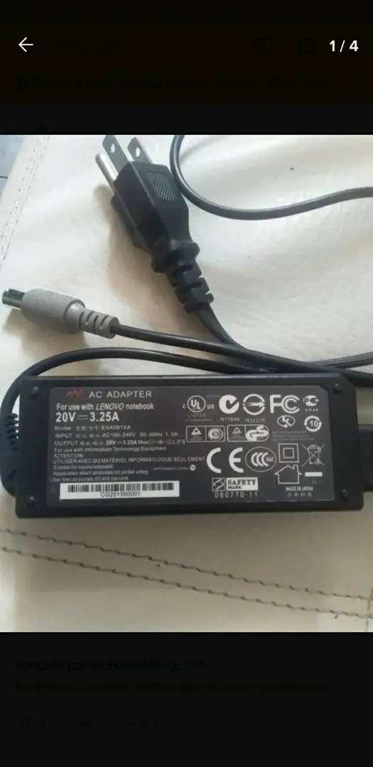 Cargador lenovo 20 V para computador portatil