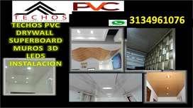 TECHO PVC INSTALACION
