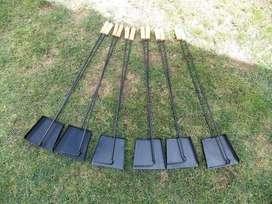 Set asador, palita y atizador