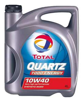 Aceite Total QUARTZ 7.000 10w40-Semi-sintetico. x4Lts
