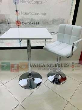 Mesa coctelera blanca