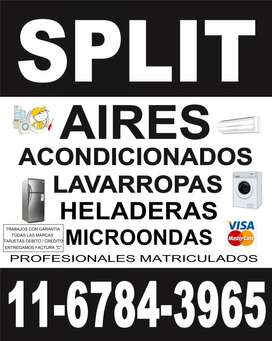 Técnico Aire Acondicionado Split, Lavarropas, Heladeras, Microondas