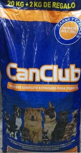 Alimento CanClub Adulto 20 kg + Snack De Regalo