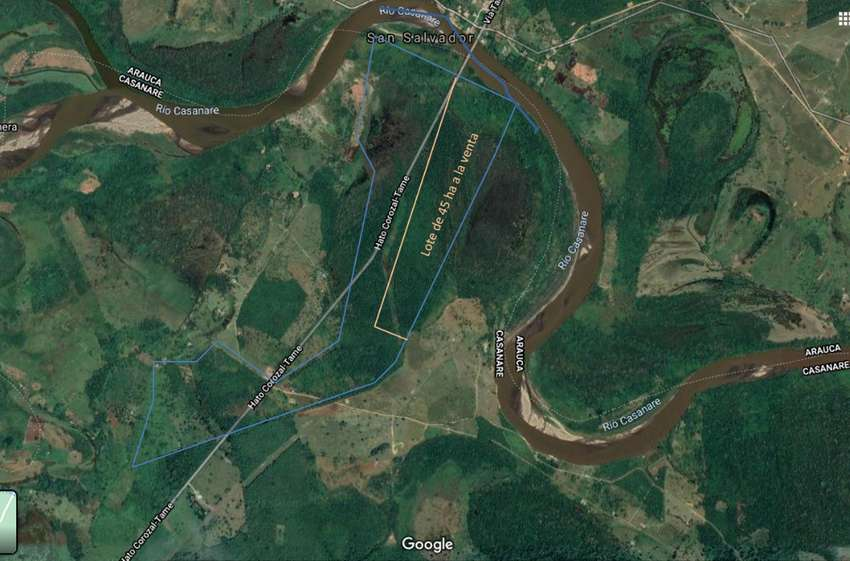 (Finca) Terreno de 45 hectáreas ubicado a 10 minutos del casco urbano de HatoCorozal-Casanare y a 3 horas de Yopal. 0