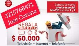 Internet, TV y línea fija