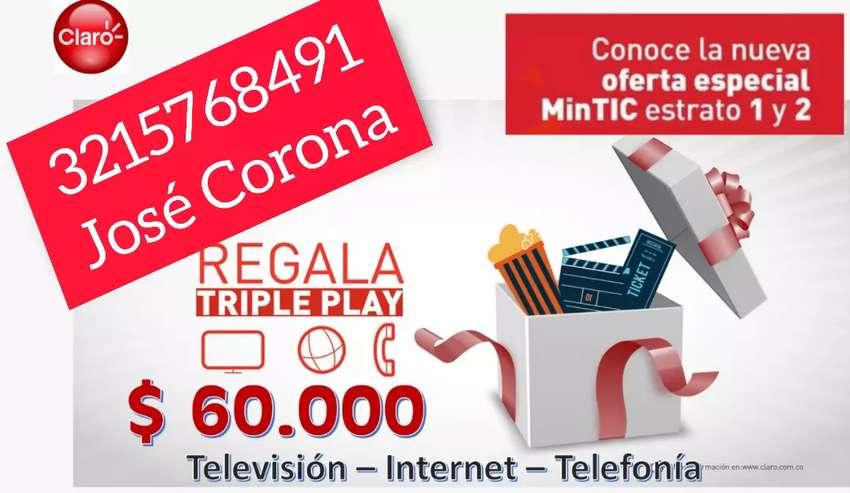 Internet, TV y línea fija 0