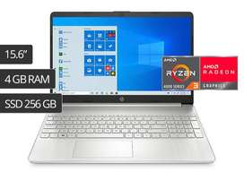 LAPTOP HP RAYZEN 3 15.6 PULG. 4GB DDR4 SSD256GB