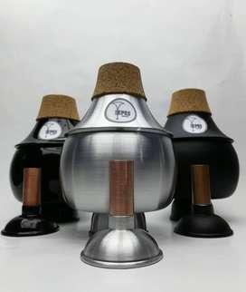 Sordinas YepesMusic y soportes de celular calebbrass para trompeta, trombón y corno