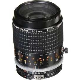 Lente Nikon Nikkor 105 MM 2.8