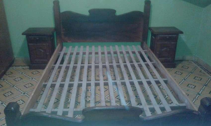 Cama de algarrobo juego de dormitorio 0