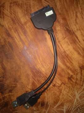 Cable convertidor sata a usb 2.0