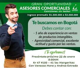 CONVOCATORIA LABORAL .- ASESORES COMERCIALES