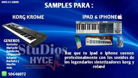 Samples para Korg Krome Y iPad