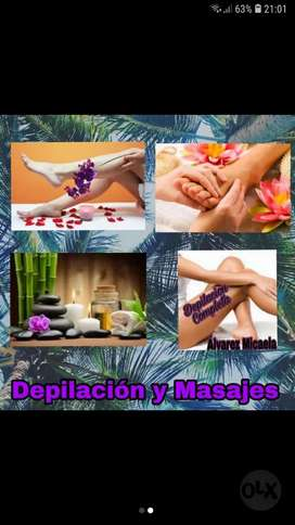 Depilacion y masajes