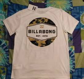 Polo Billabong talla medium blanco nuevo