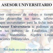 Asesor Universitario para Pregrado y Post-Grado