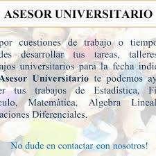 Asesor Universitario para Pregrado y Post-Grado 0