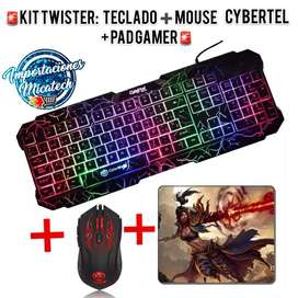 Kit Gamer Twister : Teclado + Mouse+ Pad Gamer