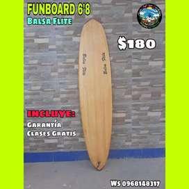 FUNBOARD 6'8 BALSA FLITE