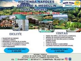 TOUR MEDELLIN GUATAPE NAPOLES SALIDA 12 DE DICIEMBRE