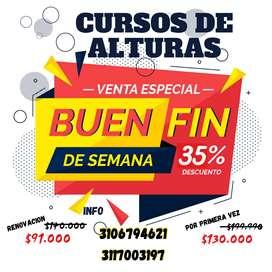 CURSOS DE ALTURAS - DESCUENTO